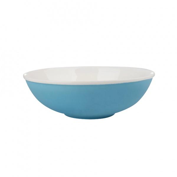 Miska salátová, porcelán, modrý mat, 19 cm