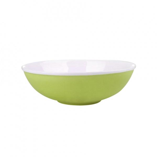 Miska salátová, porcelán, zelený mat, 19 cm