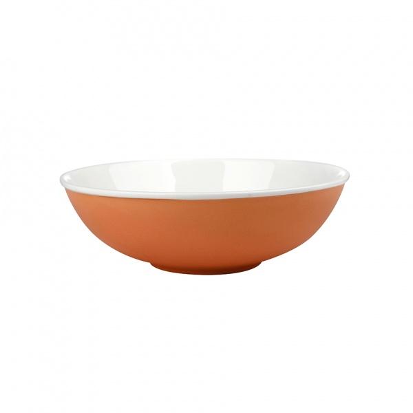 Miska salátová, porcelán, oranžový mat, 19 cm