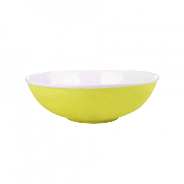 Miska salátová, porcelán, žlutý mat, 19 cm