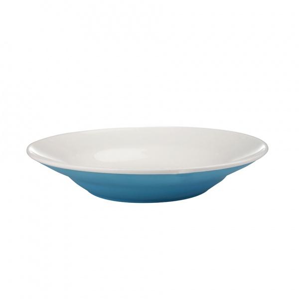 Talíř polévkový, porcelán, modrý mat, 20,5 cm