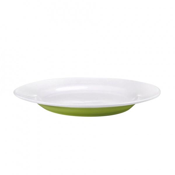 Talíř jídelní, porcelán, zelený mat, 27,5 cm