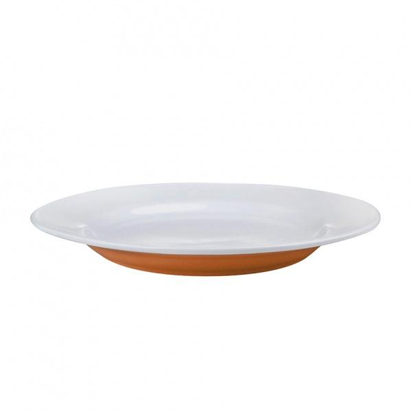 Talíř jídelní, porcelán, oranžový mat, 27,5 cm