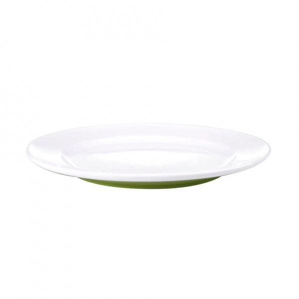 Talíř dezertní, porcelán, zelený mat, 19,8 cm