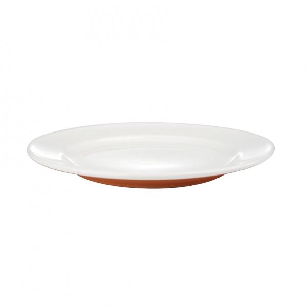 Talíř dezertní, porcelán,  oranžový mat, 19,8 cm