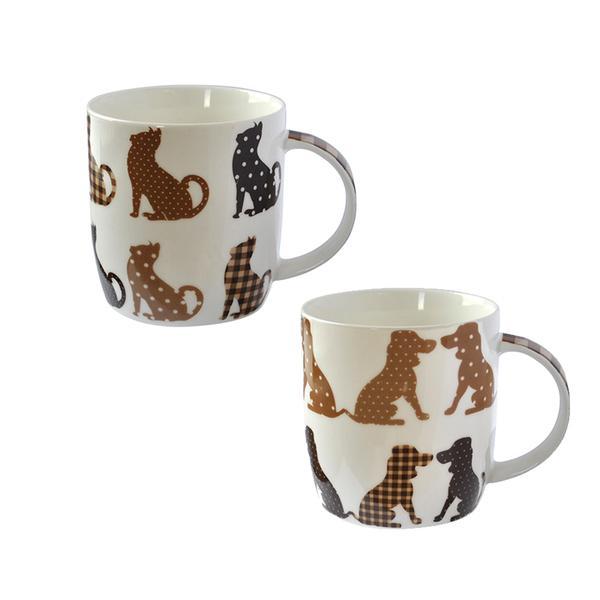Hrnek 390 ml, motiv kočka/pes, keramika