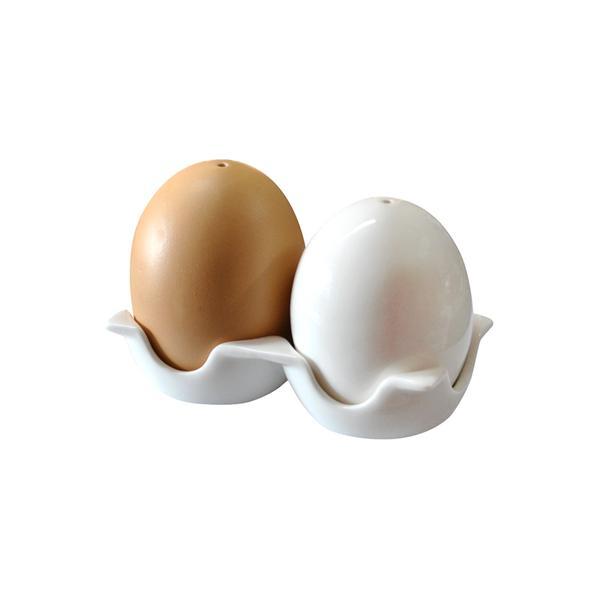 Slánka a pepřenka, tvar vajíčko, porcelán