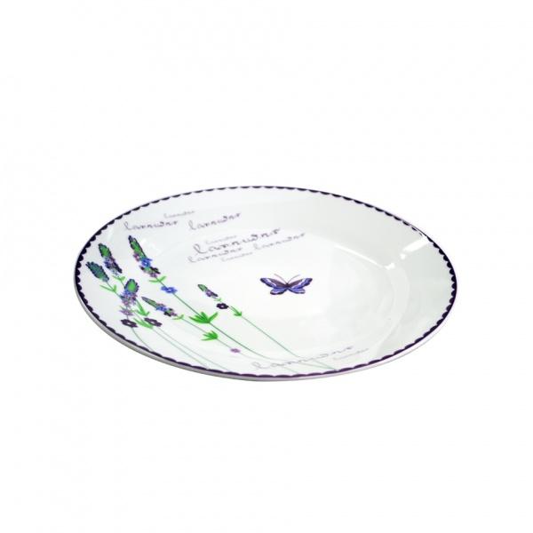 Talíř dezertní, keramika, levandule, 19 cm