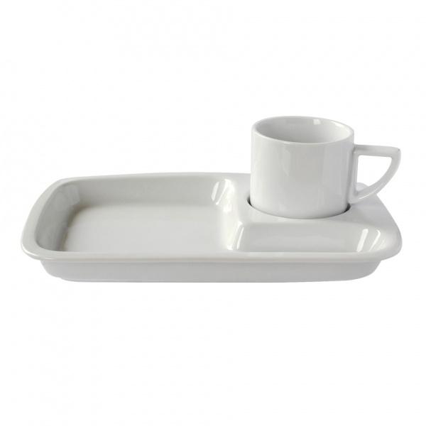 Šálek s podnosem, porcelán