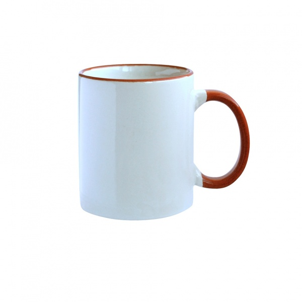 Hrnek keramika, červená/bílá, 300 ml