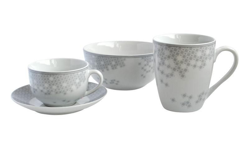 Miska servírovací, porcelán, bílo-šedá