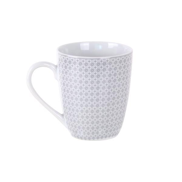 Hrnek 350 ml, porcelán, bílo-šedý