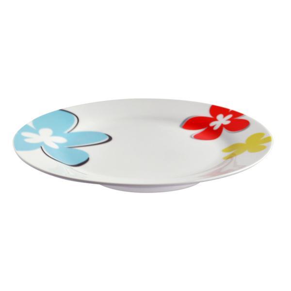 Talíř dezertní, porcelán, květy