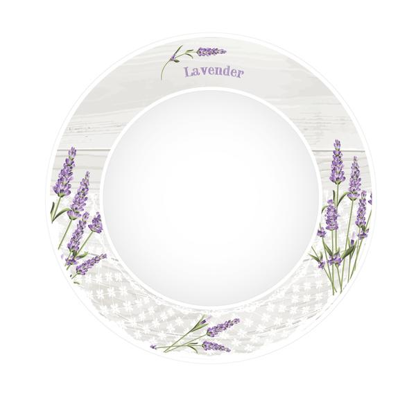 Talíř polévkový levandule 2, porcelán