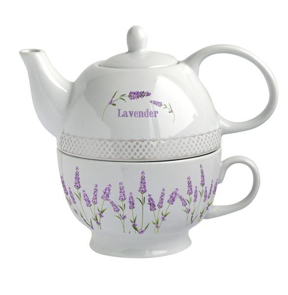 """Konvička na čaj se šálkem """"levandule 2"""""""