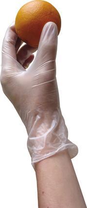 Gumové rukavice,  velikost L,   10 ks