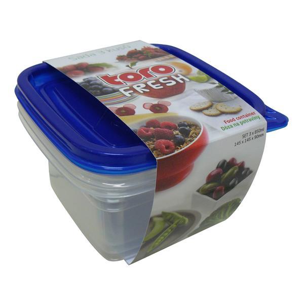 dóza na potraviny 3 ks, 14,5 x 14,5 cm