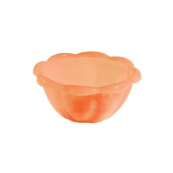 Miska plast 0,4l, světle oranžová