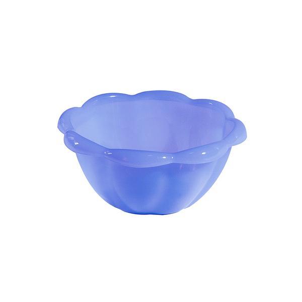 Miska plast 0,4 l, modrá transparentní