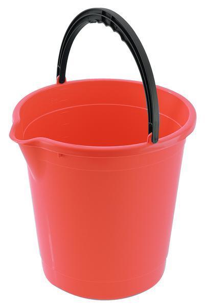 Kbelík s výlevkou Tontarelli 10 l, korálově červený