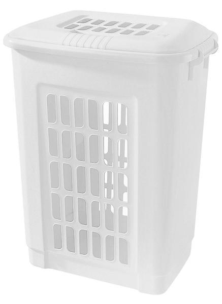 Koš na špinavé prádlo, 60 l, bílý