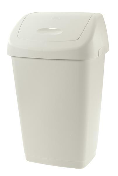 Koš na odpadky SWING AURORA, objem 25 l, bílý