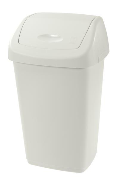 Koš na odpadky SWING AURORA, objem 15 l, bílý