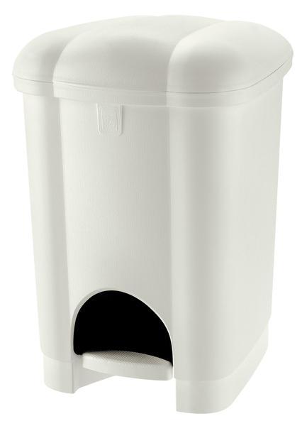 Koš na odpadky CAROLINA, objem 16 l, bílý