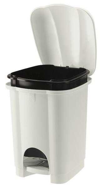 Koš na odpadky CAROLINA, objem 6 l, bílý