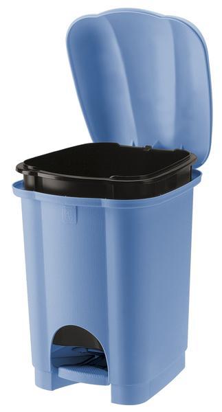 Koš na odpadky CAROLINA, objem 6 l, světle modrý