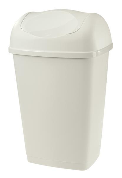 Koš na odpadky Grace, objem 15 l, bílý