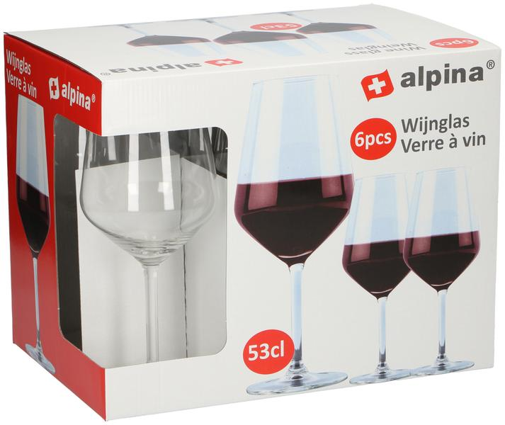 Sklenice na červené víno Alpina, objem 530 ml, 6 ks