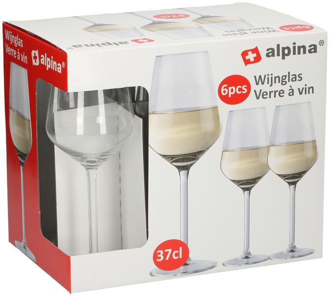 Sklenice na bílé víno Alpina, objem 370 ml, 6 ks