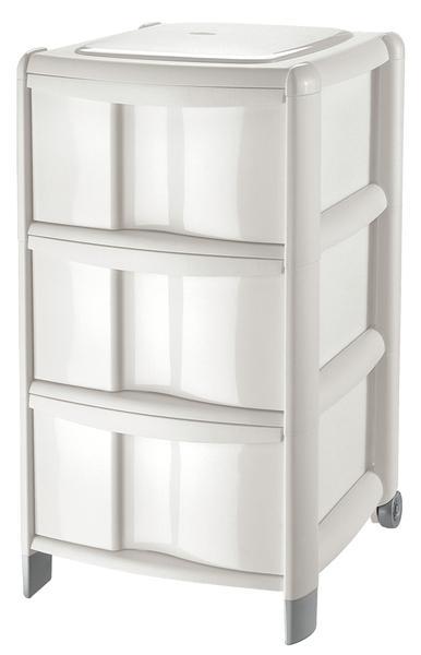 Box se 3 zásuvkami, bílý