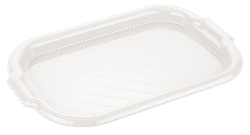 Podnos obdélník, plast, bílá