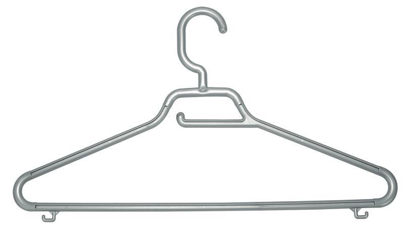 Ramínko Maxi s pevným háčkem, set 3 ks, antracit