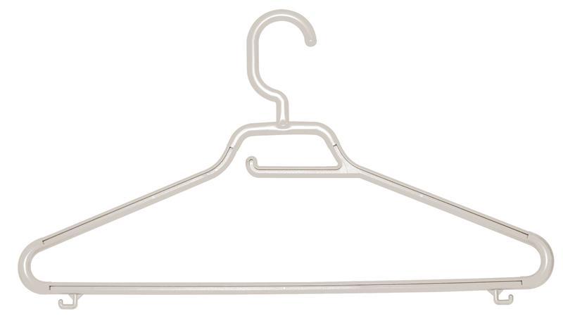 Ramínko Maxi s pevným háčkem, set 3 ks, bílá