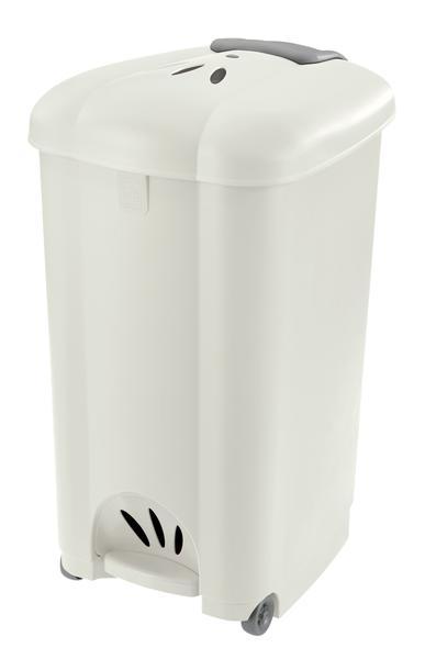 Koš odpadkový Carolina, 50 l, bílý