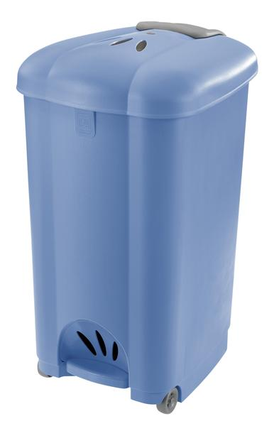 Koš odpadkový Carolina, 50 l, světle modrý