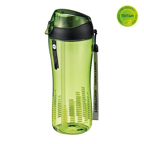 Sportovní láhev lock 550 ml se silikonovým brčkem - zelená