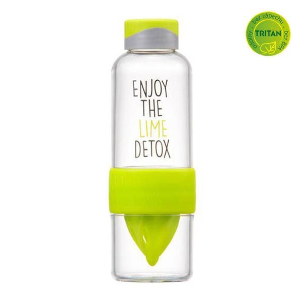 Láhev na vodu Bisfree Detox, 520 ml, zelená
