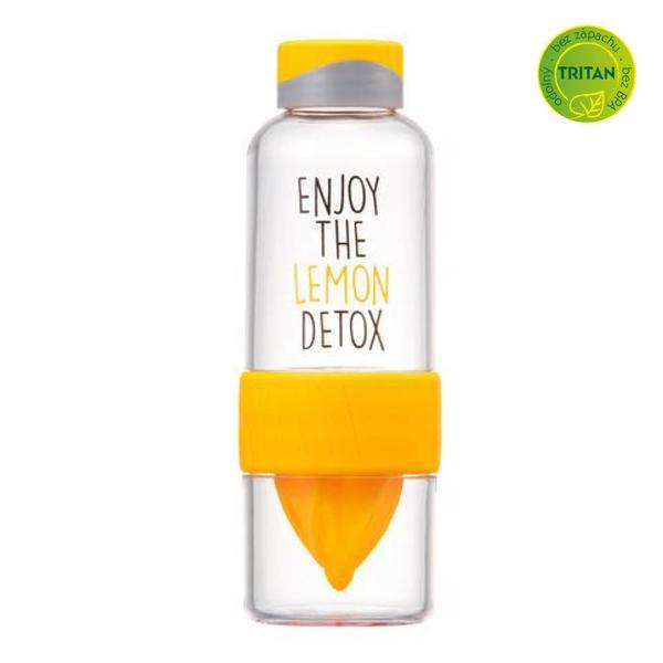 Láhev na vodu Bisfree Detox, 520 ml, žlutá