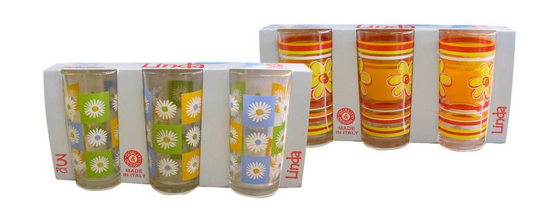 Sklenka LINDA set 3 ks, objem 250 ml, 6,5 x 12 cm