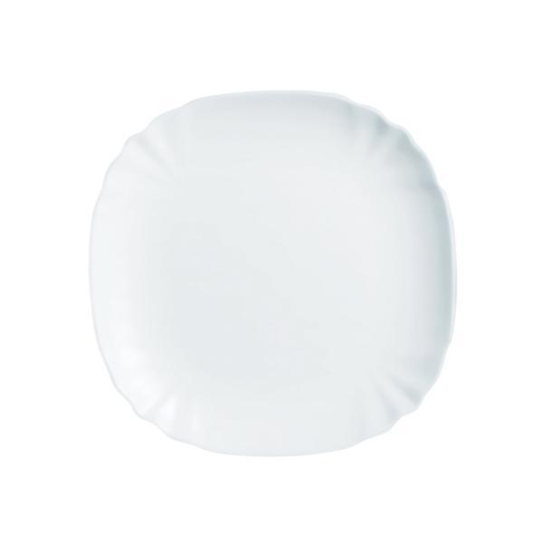 Talíř dezertní Lotusia,bílá,21x21x1,5cm