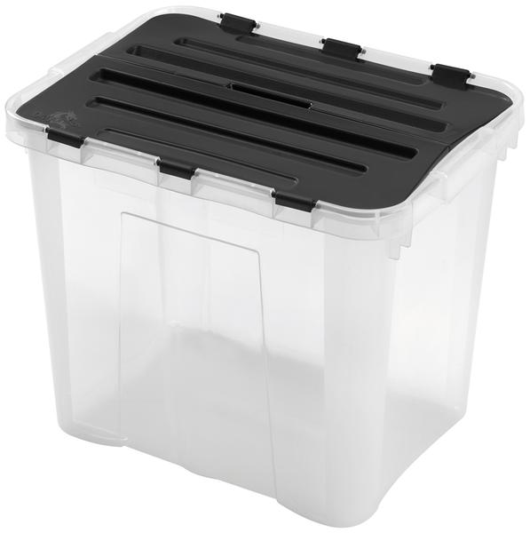 BOX ÚLOŽNÝ S VÍKEM, 30L, PLAST, 42X31X34 CM