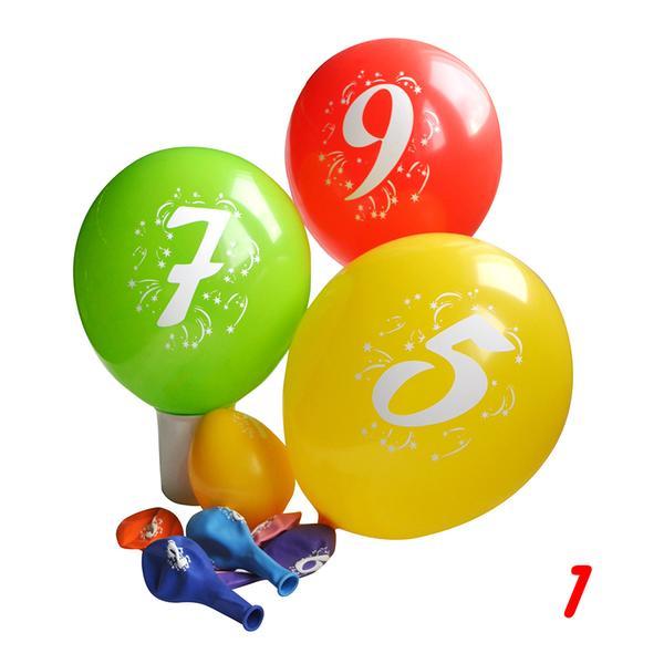 Balonky s potiskem čísla 1, 3 ks