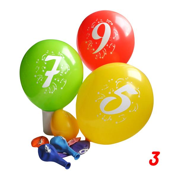 Balonky s potiskem čísla 3, 3 ks