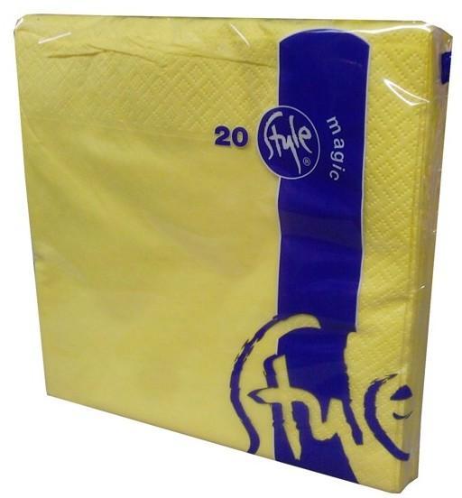 Ubrousky 2-vrstvé St. Magic - žluté, 20 ks
