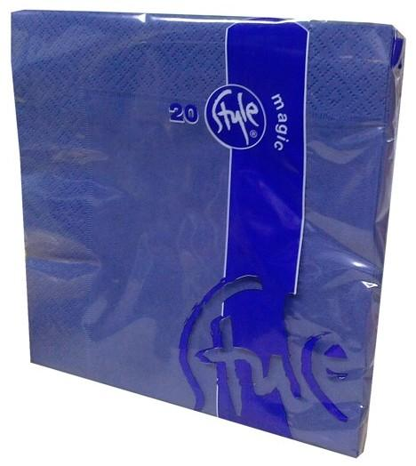Ubrousky 2-vrstvé St. Magic - tmavě modrá, 20 ks