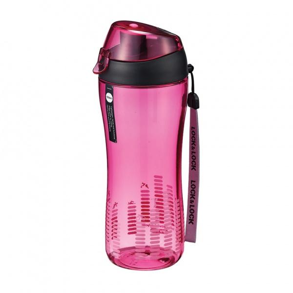 Sportovní láhev na pití lock 550 ml - růžová